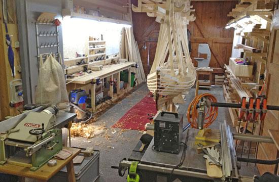 Werkstatt  Classic Holzbootbau Dominik Gschwind